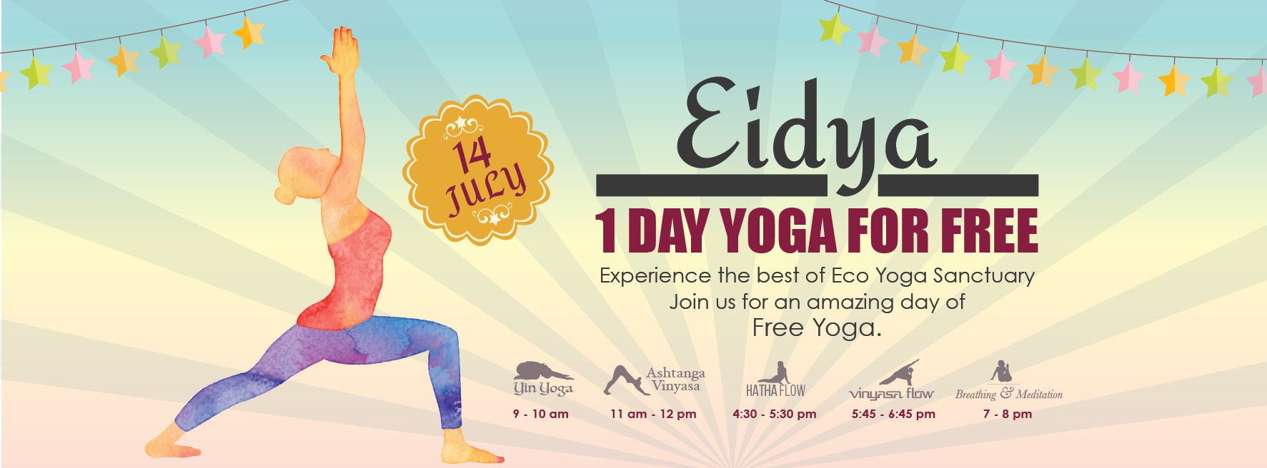 Eidya1 Day Yoga for Free