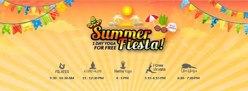Summer Fiesta 1 Day Yoga for Free