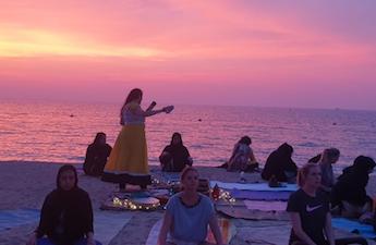 Full Moon Meditation in the Beach ~ June