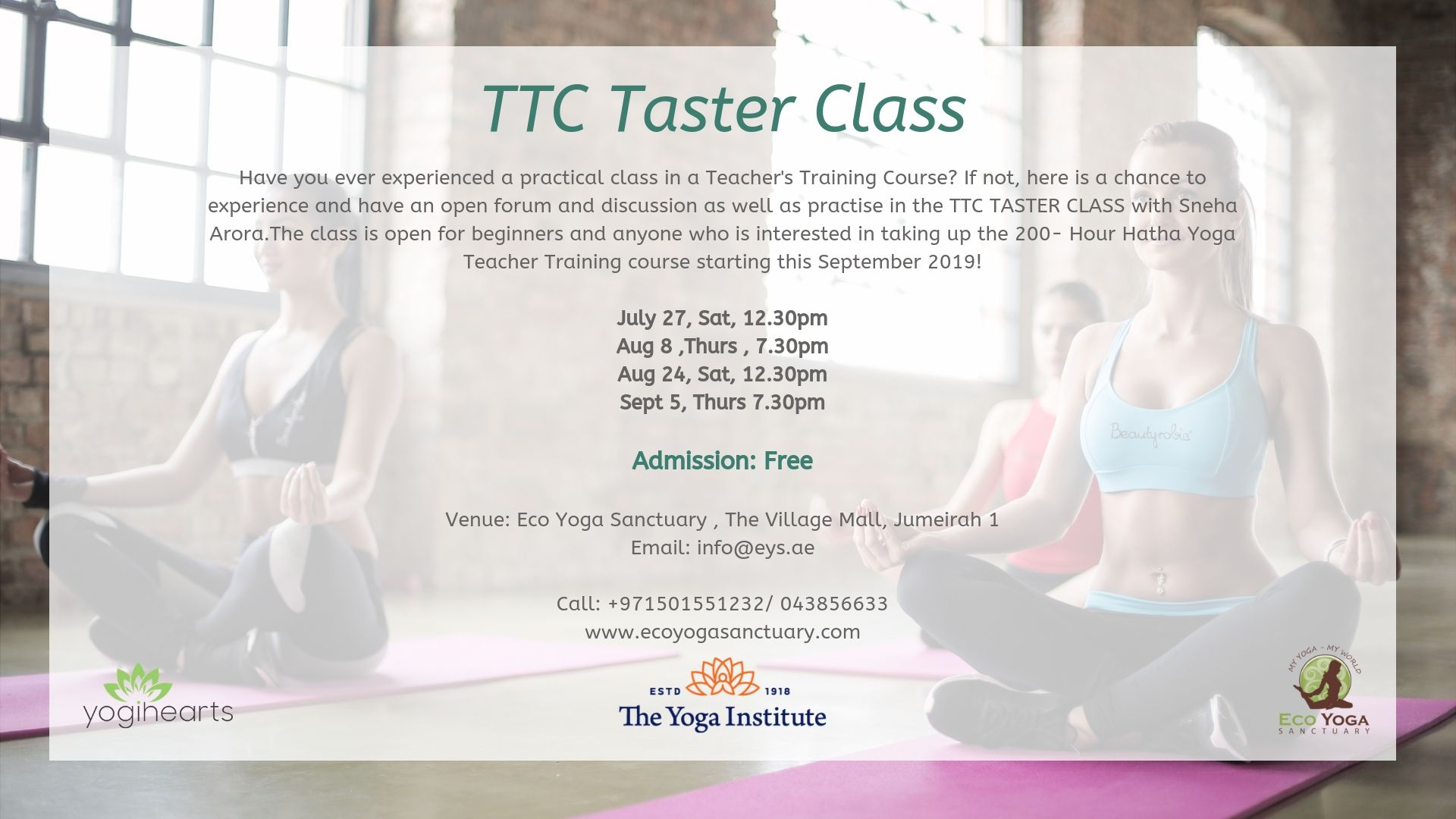 Teacher Training Course Free Class