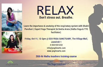 Relax. Don't stress out. Breath